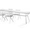 table à manger contemporaine / en teck / en aluminium / en granite
