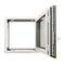 fenêtre battante / oscillo-battante / en aluminium / à double vitrageKALORY E KAWNEER
