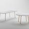 table à manger contemporaine / en marbre / en acier inoxydable / rectangulaire