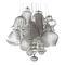 suspension / contemporaine / en verre soufflé / à LED