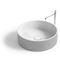 vasque à poser / ronde / en Solid Surface / en résine