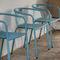 chaise contemporaine / avec accoudoirs / empilable / en aluminium