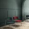fauteuil visiteur contemporain / en tissu / en cuir / en métal