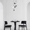 chaise de salle à manger design scandinave / tapissée / en velours / en cuir