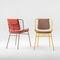 chaise de salle à manger contemporaine / tapissée / en velours / en cuir