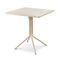 table bistrot contemporaine / en acier / en acier laqué / carrée