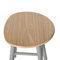tabouret contemporain / en bois / en métal peint / pour restaurant