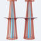 table mange-debout contemporaine / en HPL / avec piètement en métal peint / ronde