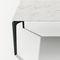 table basse contemporaine / en verre fumé / aluminium / carrée