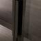 armoire contemporaine / en verre / en aluminium / à porte battante