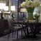 chaise de salle à manger contemporaine / tapissée / avec accoudoirs / en hêtre
