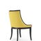 chaise de salle à manger contemporaine / tapissée / en bois massif / en frêne