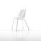 chaise de salle à manger contemporaine / piètement étoile / tapissée / luge