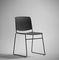 chaise contemporaine / empilable / luge / tapissée