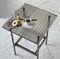 table basse contemporaine / en verre / avec piètement en métal / rectangulaire