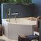 mitigeur pour baignoire / mural / en métal chromé / mécanique