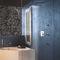 mitigeur de douche / à encastrer / en métal chromé / en acier