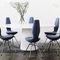 chaise contemporaine / tapissée / en tissu / bois