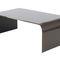 table basse contemporaine / en verre bombé / rectangulaire / carrée