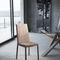 chaise contemporaine / tapissée / en tissu / en acier