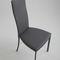 chaise contemporaine / tapissée / avec dossier haut / en cuir