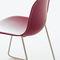 chaise contemporaine / tapissée / empilable / luge