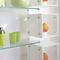 système d'étagères suspendu / contemporain / en verre / pour commerce