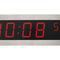 horloge contemporaine / numérique / murale / en acier inoxydable