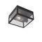 plafonnier contemporain / carré / en acier inoxydable / à LED