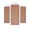 table de pique-nique contemporaine / en bois / en acier peint / rectangulaire