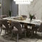 chaise de salle à manger classique / tapissée / piètement standard / en tissu