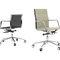 fauteuil de bureau contemporain / en cuir / en aluminium / à roulettes