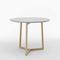 table bistrot contemporaine / en frêne / en céramique / ronde