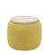 pouf contemporain / en tissu / en bois / rond