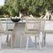 chaise contemporaine / en iroko / en aluminium / en métal peint