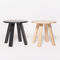 table d'appoint contemporaine / en bois / ronde / ovale
