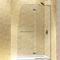 douche en verre trempé / en niche / avec porte pivotante / en kit