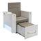 fauteuil spa pédicure en simili cuir