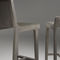 tabouret de bar contemporain / en cuir / en tissu / en chêne