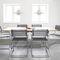 chaise de conférence avec accoudoirs / cantilever / en résille / en cuir