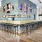 tabouret de bar classique / en hêtre / en bois courbé / en cuir