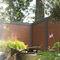clôture de jardin / à lames / en aluminium / en verre