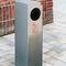poubelle publique / en inox / en acier galvanisé / avec cendrier intégré