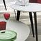 table basse contemporaine / en bois laqué / en pierre / avec piètement en métal