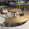 table mange-debout en bois exotique