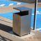 poubelle publique / en acier COR-TEN® / en acier inoxydable brossé / en acier à revêtement par poudre