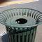 poubelle publique / en acier galvanisé / pour espace public / contemporaine