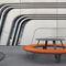 table de pique-nique design original / en acier galvanisé / en polyéthylène / en HPL