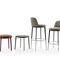 chaise de bar contemporaine / tapissée / pivotante / en tissu