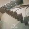 escalier droit / structure en acier / marche en pierre / sans contremarche